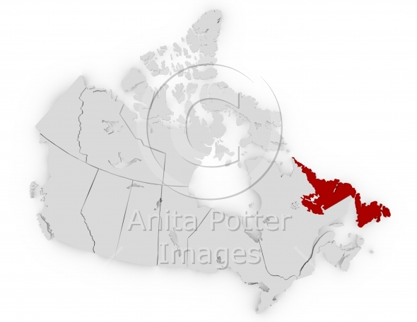 3d Render Canada Newfoundland and Labrador
