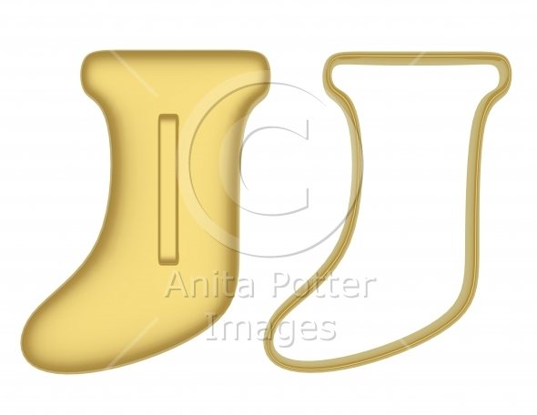 3d Render Stocking Cookie Cutters