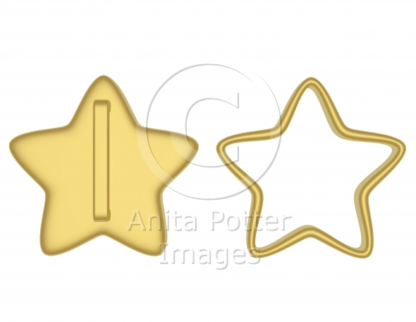 3d Render of Star Cookie Cutters