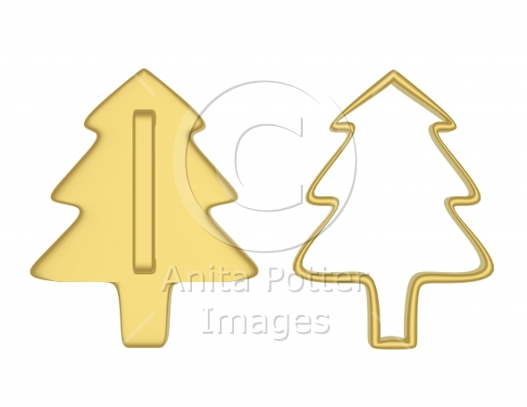 3d Render of Christmas Tree Cookie Cutters