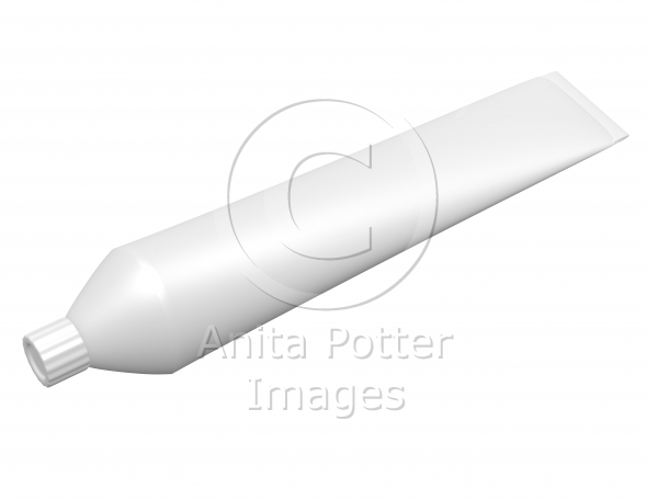 3d Render of a Toothpaste Tube