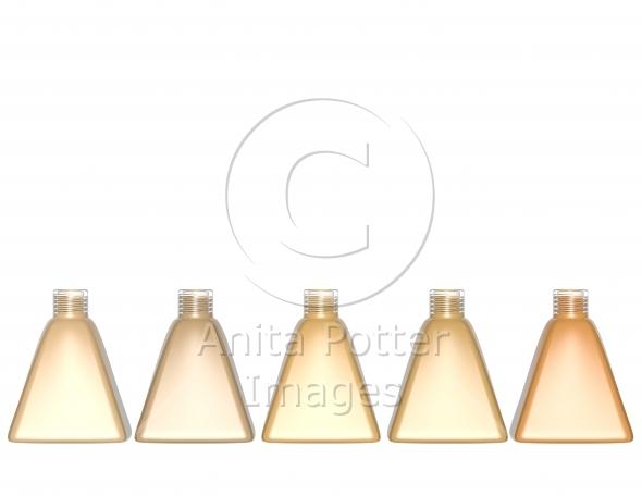 3d Render of a Set of Foundation Bottles