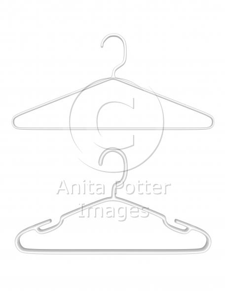 3d Render Pair of Plastic Hangers