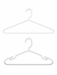 3d Render Pair of Plastic Hangers
