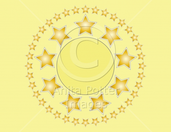Golden Stars Background With Copy Space