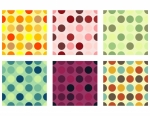 Seamless Background Dots Set