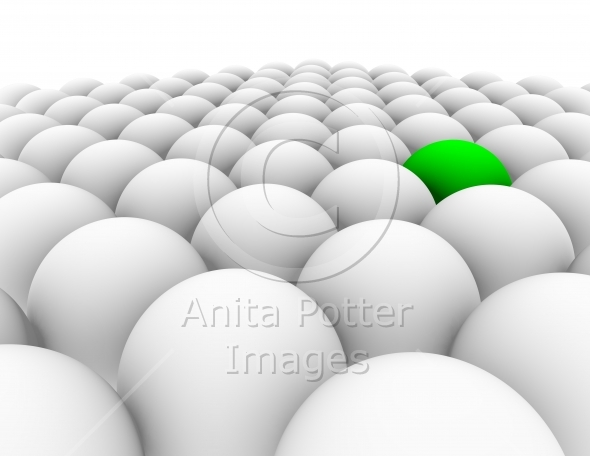 3d Render Concept Signifying Individuality