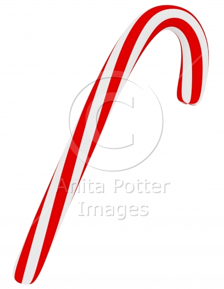 3d Render of a Candy Cane