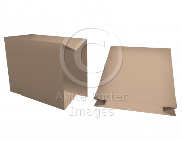 3d Render of Paper Bags