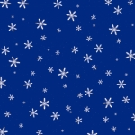 3d Render of Snowflakes on a Blue Background