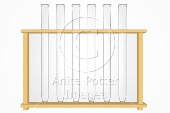 3d Render of a Set of Test Tubes