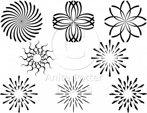 Set of Circular Decorative Elements