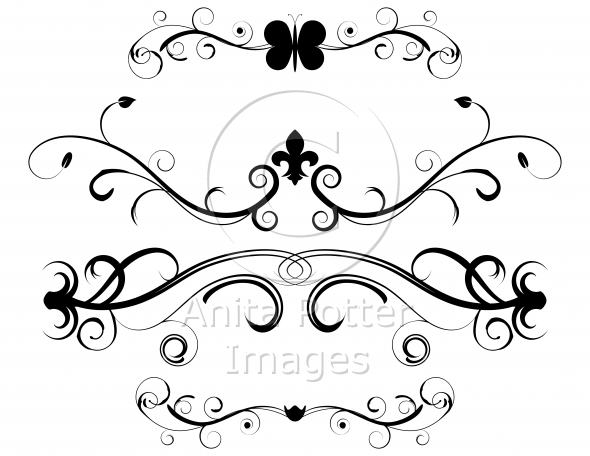 Set of Decorative Page Dividers